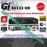 Galaxy Innovations GI S2233 PLUS - Asombrosa calidad de imagen y optimo rendimiento. Lee formatos Divx, AVI, WMV, MKV, etc...(Youtube, Navegador Opera, RSS, y Picasa.