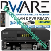 Receptor Sat�lite BWARE HK490 HD WIFI - Receptor sat�lite HD  Ethernet y Wifi dongle