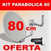 Kit Antena Parab�lica 80 cm - Parab�lica de 80 cm + LNB y Soporte Pared