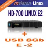MVISION HD-700 LINUX E2 - Producto Exclusivo en EDH. Distribuidor Oficial Mvision en Espa�a