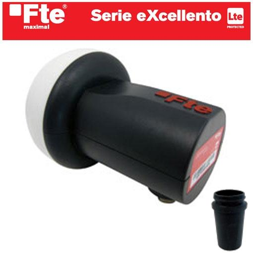 LNB Universal FTE  eXcellento Single 0,1 - LNB Universal Sigle Digital HD Ready - 3D Ready - Todo Banda.