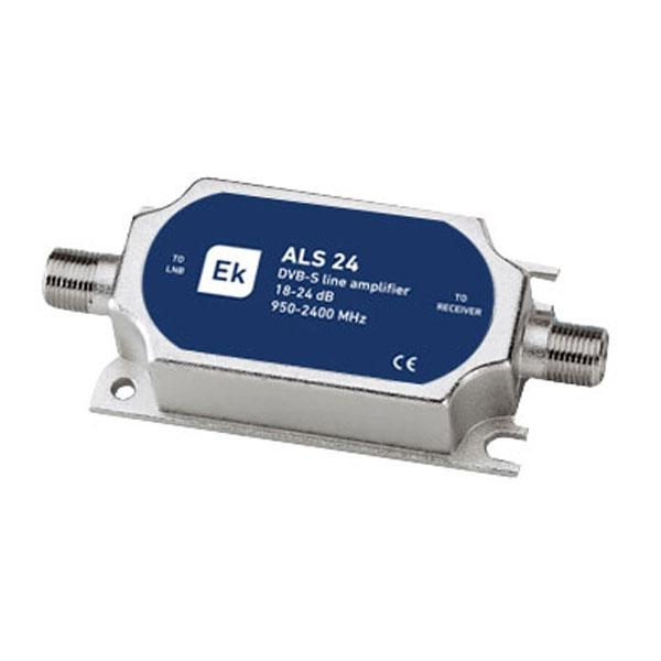 EKSELANS Amplificador de línea SAT - Ganancia 18 - 25 dB