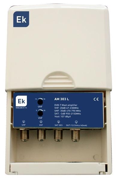 Amplificador de mástil 2 entradas - AM 312 L - Amplificador de mástil 2 entradas: 2 x UHF