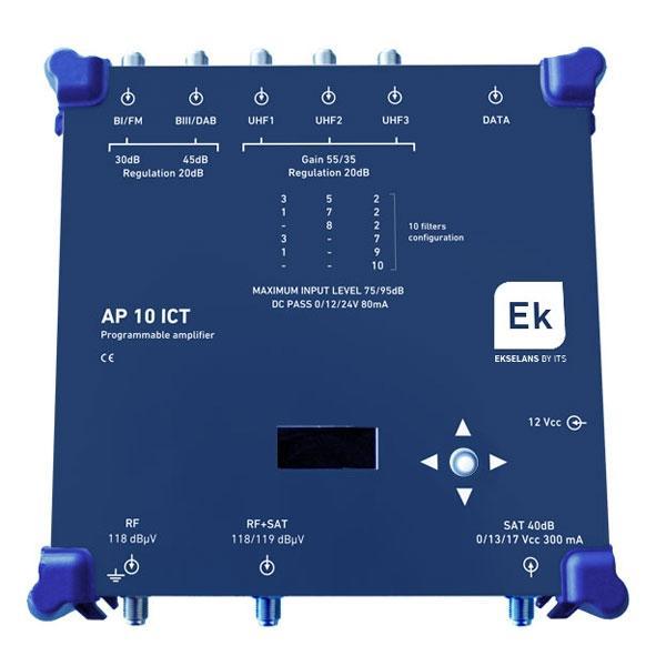 Central programable Ekselans 10 filtros UHF y SAT - Central programable Ekselans 10 filtros UHF y SAT para instalaciones ICT