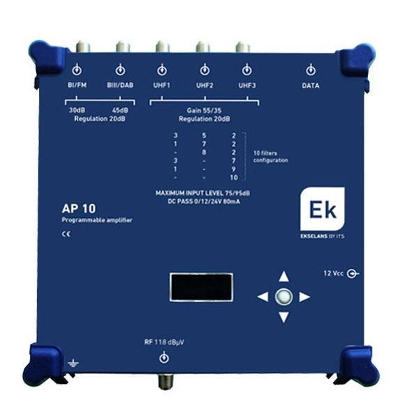 Central Ekselans programable 10 filtros UHF