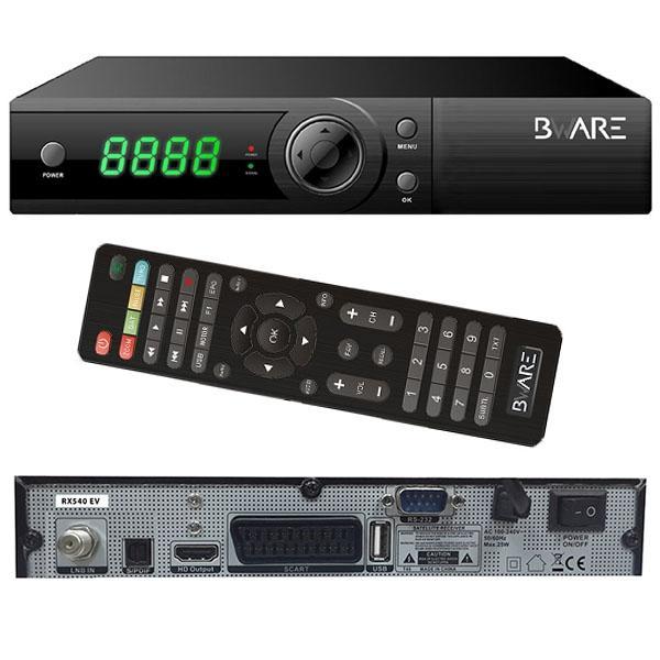 Bware RX540 EV WIFI + HDMI 4K - Bware RX540 EV, Receptor Satélite HD con 1 año de abono oficial a Redlight HD + Hustler HD + Private TV