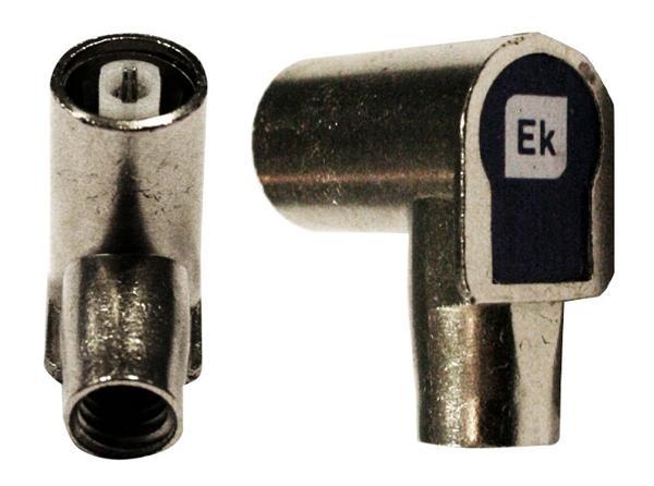 Conector Blindado IEC 9,5mm Hembra acodado clase A EKSELANS