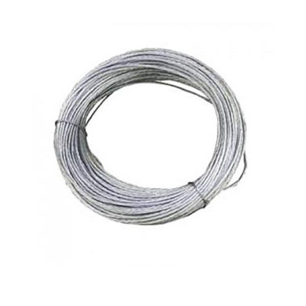 Rollo cable de vientos acerado - Cable de vientos acerado 2 mm (bobina 100 m)
