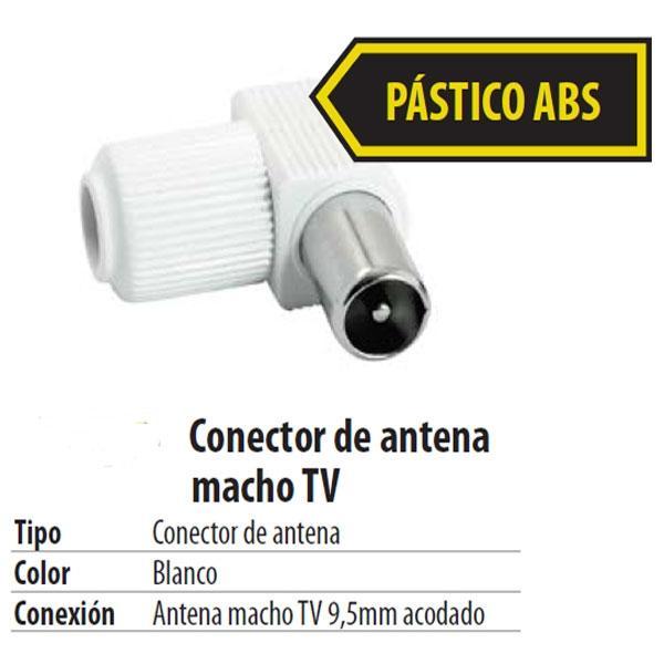 Conector IEC Macho Acodado para cable RG6