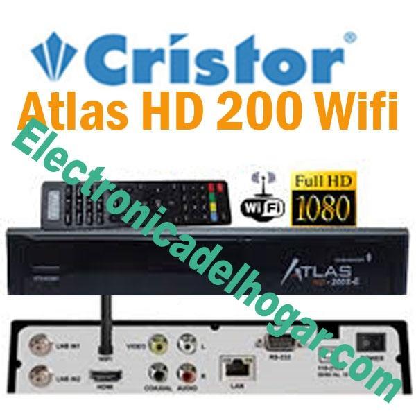 Cristor Atlas HD 200Se WIFI - Doble sintonizador Satélite HD con nuevas funciones y WIFI INTEGRADO.