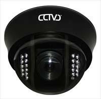 domo fijo con iluminación infrarroja - Domo fijo para interiores Color Día / Noche con IR 20 metros, CCD 1/3