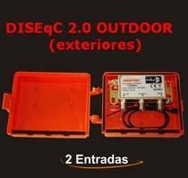 Conmutador DiSEqC 2 Entradas (Para Exteriores) - CONMUTADOR DiSEqC 2 ENTRADAS (PARA EXTERIORES) Este tipo de conmutadores nos permiten la instalación de 2 antenas en un mismo receptor.