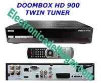 DOOMBOX HD 900 (Descatalogado Recomendamos BWARE RX8900) - EL MÁS COMPLETO Y ESTABLE,TODO UN CAZADOR DE CANALES, SENCILLO DE CONFIGURAR. LA REVOLUCION MAS ESPERADA. Con mas de 5 años de experiencia en otros países.  Receptor con todas las características y para los mas exigentes, admite todas las funciones sharing, no son necesarios conocimientos de programación, gracias a sus dos sintonizadores HD y su conexión Internet Rj45 podrás disfrutar al máximo.  Graba directamente la Televisión Digital en HD o SD  en dispositivos USB como USB-Sticks etc.. El Doombox HD 900 es PVR Ready y por supuesto, tiene función Time- Shift para rebobinar cualquier evento en directo.