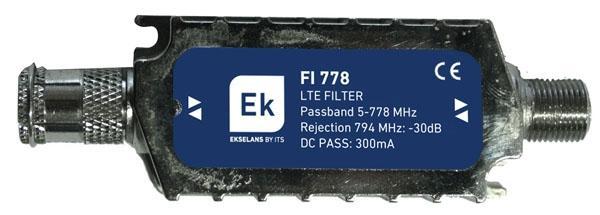 Filtro de rechazo banda Lte para interior. FI778 - Filtro LTE interior EKSELANS 5 - 778 MHz