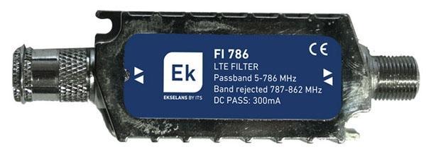 Filtro de rechazo banda Lte para interior. FI786 - Filtro LTE interior EKSELANS 5-786 MHz.