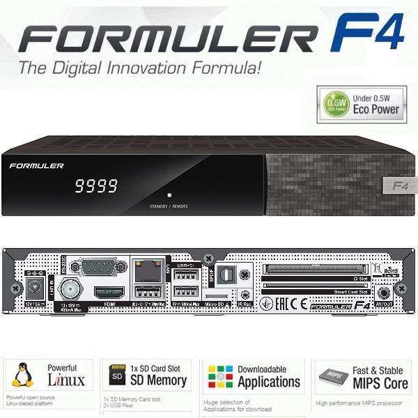 Formuler F4 HD  + Wifi 150 Mb - Nuevo modelo de la serie F, el receptor F4 con similares características al F3 pero mejoradas.