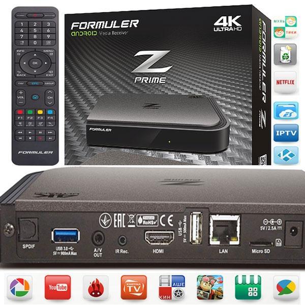 Formuler Z Prime IPTV UHD 4K - Z Prime Receptor IPTV UHD 4K Android procesador Quad Core, XBMC y mucho más.