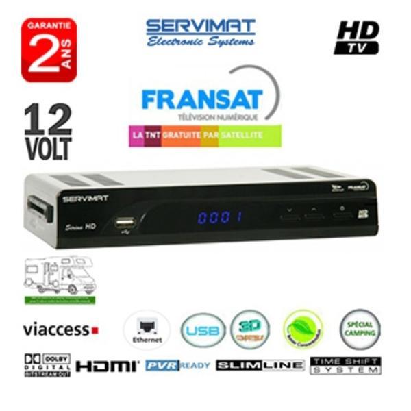 Receptor FRANSAT Servimat HD + TARJETA (Eutelsat 5WA) - RECEPTEUR HD SATELITE NUMERIQUE, POUR TNT FRANCE