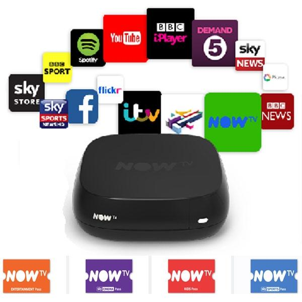 NOW TV Smart Box Receiver - Watch over 60 Free view channels plus 12 HD channels