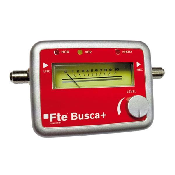 Apuntador de satélite FTE BUSCA - Localizador satélite por intensidad de señal y beep sonoro.  Indica alimentación LNC, tono 22 KHz y detección DiSEqC