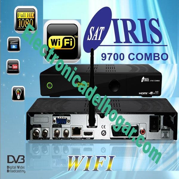 IRIS 9700 Combo + Wifi + HDMI 4K - Receptor Satélite y TDT de altas prestaciones. Más canales y más contenidos.