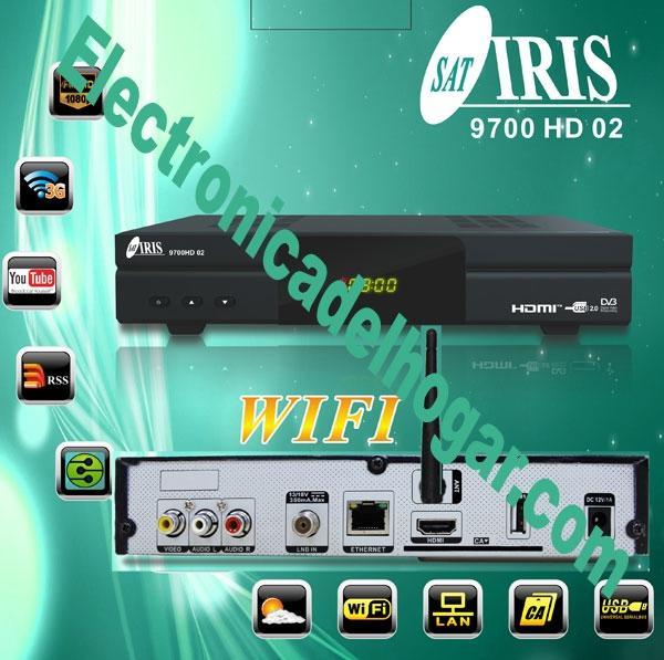 IRIS 9700 HD 02 + Wifi + HDMI 4K - Receptor de satelite Wifi para ver cantidad de canales.