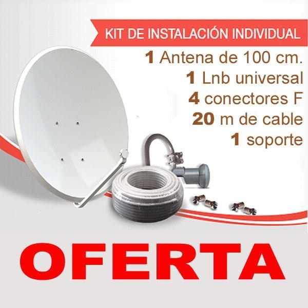Kit Completo Parabólica 100 - Todo lo necesrio para la instación de una parabólica de 100 cm.