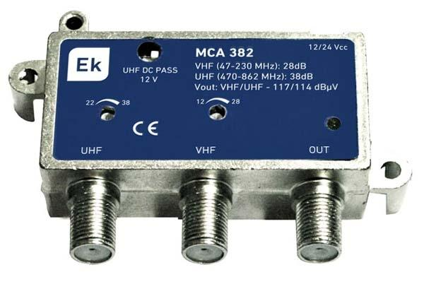 Micro Central Amplificadora 1 entradas EKSELANS MCA381LR