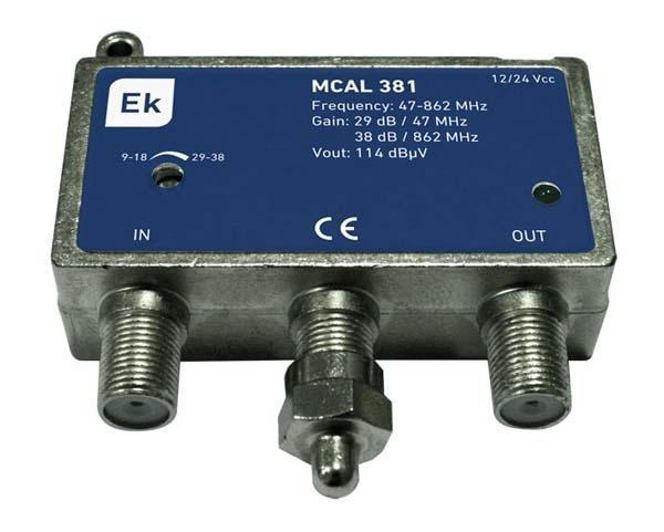 Micro-central MCAL 381L Amplificador de línea 1 Entrada