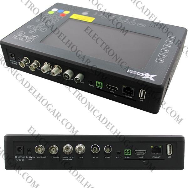 Xfinder2 Wifi Medidor de Campo DVB-S2, T/T2 y C - XFINDER 2 WIFI, NUEVA EVOLUCIÓN del famoso medidor Xfinder. Podrás acceder a internet directamente desde tu medidor Xfinder, preparado para la calibración de instalaciones TDT, Satélite y sistemas Unicable DVB-T2. El XFINFER 2 es totalmente compatible con HDTV, pantalla de LCD de 7