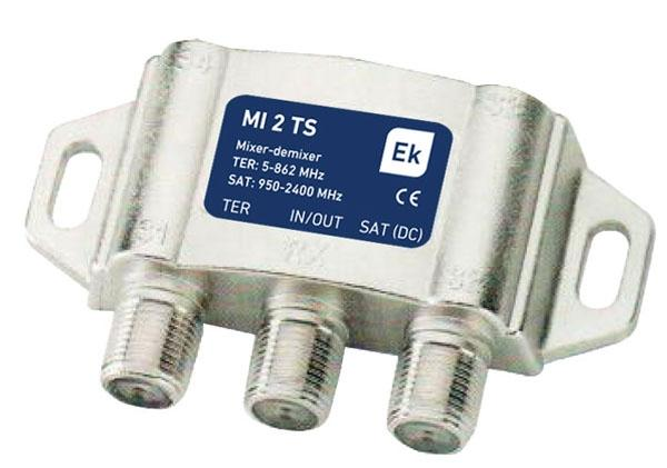 Mezclador TV-SAT Desmezclador - Mezclador / desmezclador EKSELANS 2 entradas TV-SAT