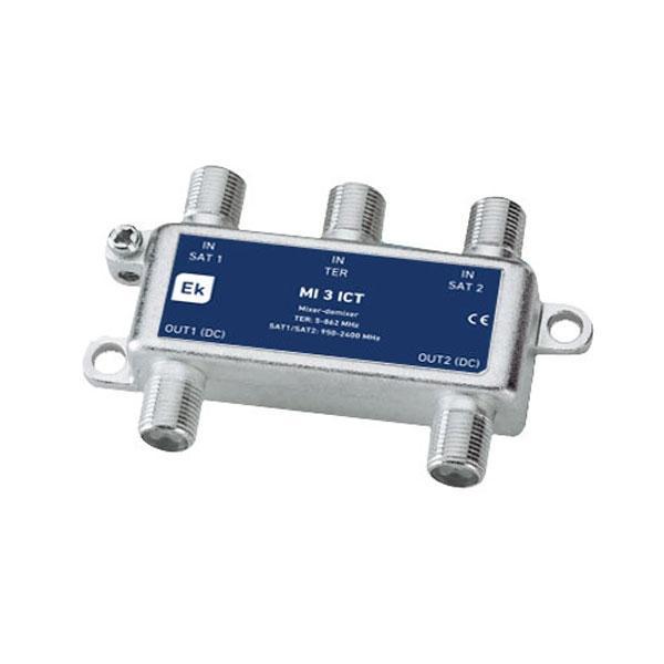 Mezclador / Desmezclador TER / SAT ICT - Mezclador / desmezclador TER / SAT para instalaciones ICT