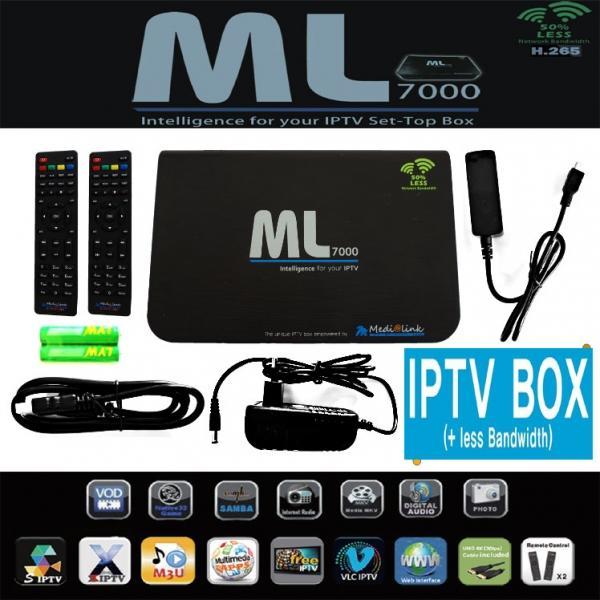 Receptor Medi@lik ML7000 HEVC IPTV - Este equipo que incorpora portales STALKER y XTREAM y te permitirá disfrutar de un amplio abanico de canales 4K o UHD.
