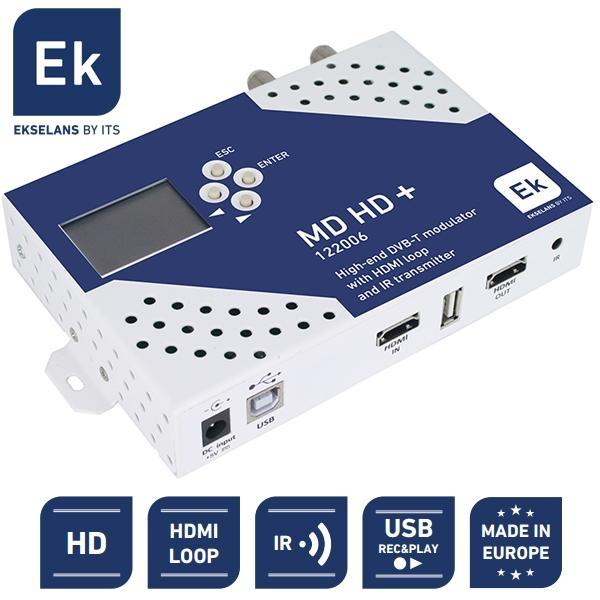 MODULADOR EKSELANS HD COFDM LOOP HDMI Y RECEPTOR DE MANDO A DISTANCIA - Modulador y Reproductor Digital HD con LOOP HDMI y transmisor IR de mando a distancia.