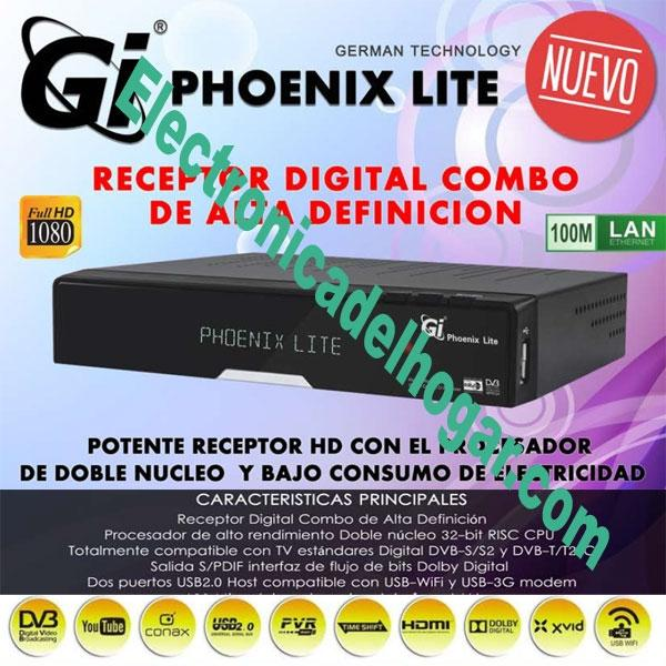 RECEPTOR Gi HD PHOUENIX LITE -  * Plegable detras TV(extensor IR)