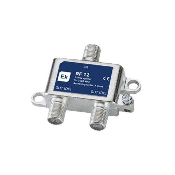Repartidor 2 Salidas RF 12 Clase A - Repartidor clase A de 2 salidas. Banda de paso: 5-2400 MHz