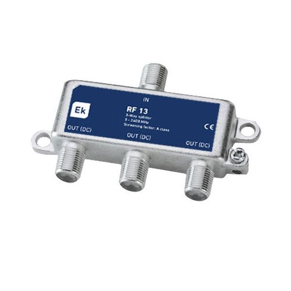 Repartidor clase A de 3 salidas RF 13 Clase A - Repartidor clase A de 3 salidas Banda de paso: 5-2400 MHz