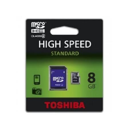 Toshiba Micro SD 8 GB - TOSHIBA Tarjeta Micro SD HC 8GB + Adaptador SD
