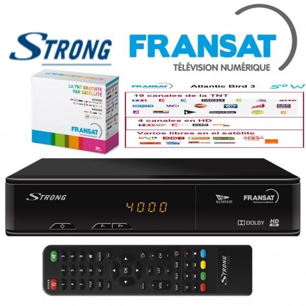Receptor FRANSAT HD Strong SRT7405+ TARJETA (Eutelsat 5WA) - Fantastique en haute défi nition