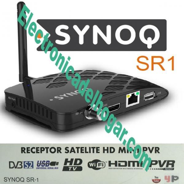 SynoQ SR1 Receptor Satélite HD + Regalo HDMI 4K - Receptor Satélite DVB-S2 de Alta Definición compatible.
