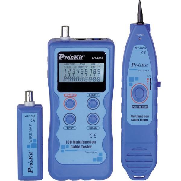 Tester de cables de red PROSKIT - Tester de cables de red y localizador por tonos