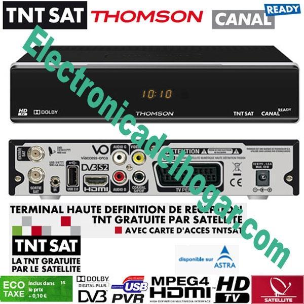 Thomson Recepteur TNT SAT HD + TARJETA 4 Años (Astra 19,2) - RECEPTEUR SATELITE NUMERIQUE HD, POUR  TNT FRANCE