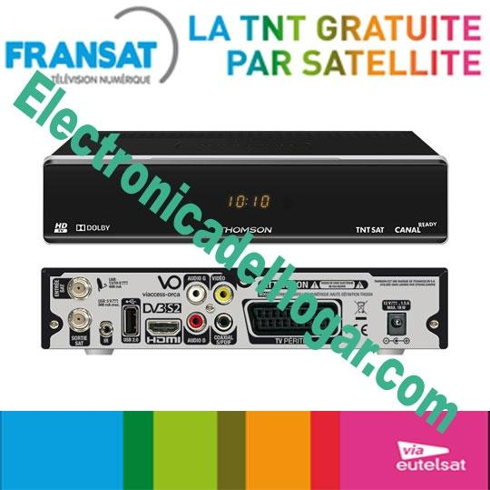 Thomson Recepteur HD FRANSAT + TARJETA (Eutelsat 5WA) - RECEPTOR DE SATELITE DIGITAL DE ALTA DEFINICION PARA FRANSAT