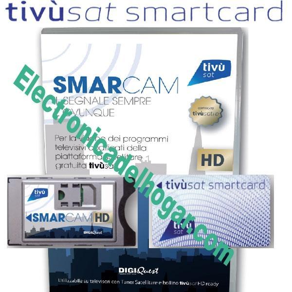 TivuSat HD Módulo CI+Tarjeta Abono Televisión Italia - Paquete Completo HD de acceso a TV Italia