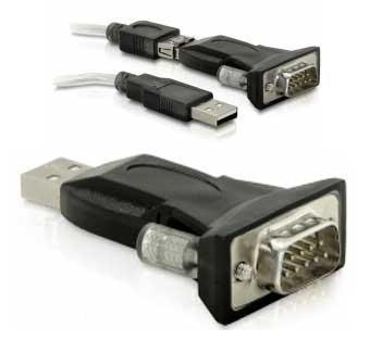 Adaptador USB a Null Modem RS232 - Cable adaptador de RS 232 a USB para la actualización de firmware por puerto USB.(Es necesario Tambien cable Null Modem).
