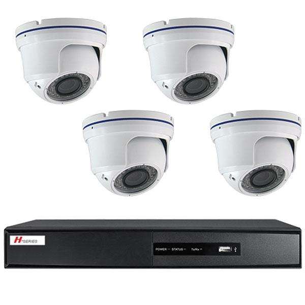 Kit Videovigilancia 4 Cámaras Domo IR interior/exterior - Kit completo de videovigilancia