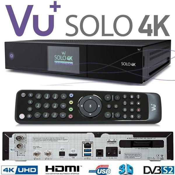 VU+ SOLO 4K Receptor Satélite UHD - VU+ SOLO 4K el primer receptor satelite 4K con Enigma 2 del mercado