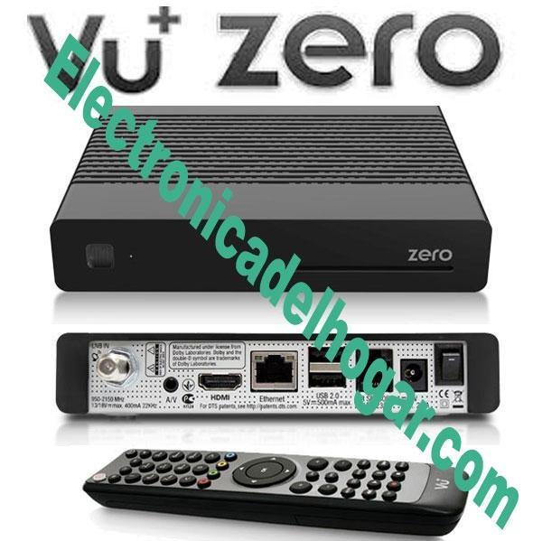 Vu+ ZERO Receptor de Satelite DVB-S2 - Receptor VU+ ZERO el más asequible para complacer a los más exigentes.