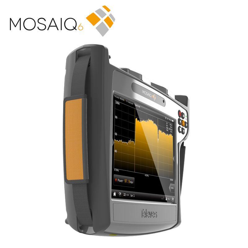 Medidor de campo MOSAIQ6 DVB-T/T2/S/S2/C + CI + F.O. (Incluye Bolsa de Transporte)