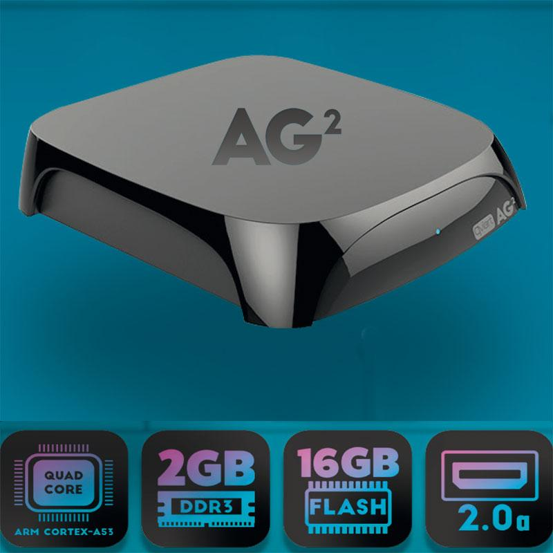 Qviart AG2 Android 4K UHD OTT Media streamer/player